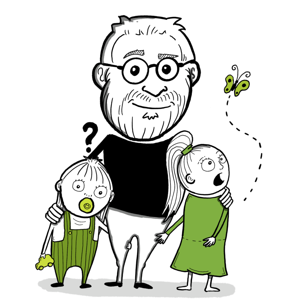 Far Tegner (Mig) og mine to døtre